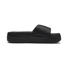 Thumbnail 5 of Platform Slide Women's Sandals, Puma Black-Puma Black, medium
