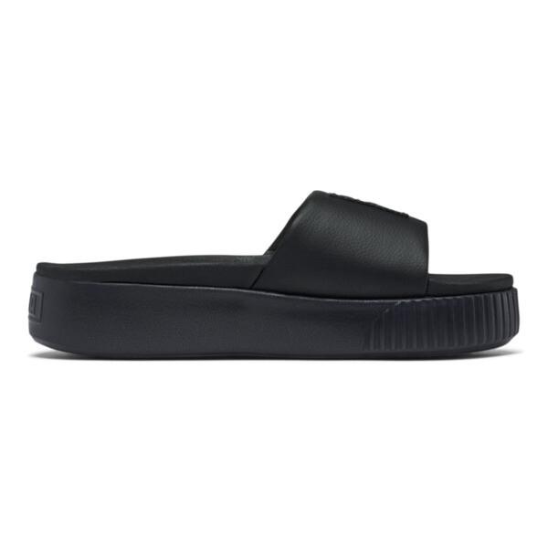 Sandalias con plataforma Slide para mujer, Puma Black-Puma Black, grande