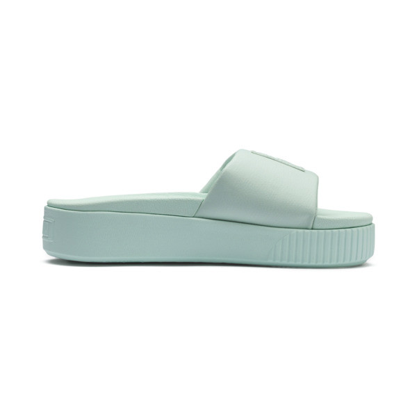 Platform Slide Women's Sandals, Fair Aqua-Fair Aqua, large