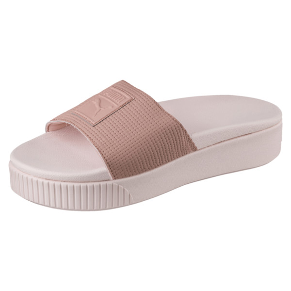 Platform Slide EP Women's Sandals, Peach Beige-Pearl, large