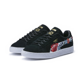 Thumbnail 2 of Suede Hyper Embellished Women's Trainers, Puma Black-Puma White, medium