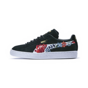 Thumbnail 1 of Suede Hyper Embellished Women's Trainers, Puma Black-Puma White, medium