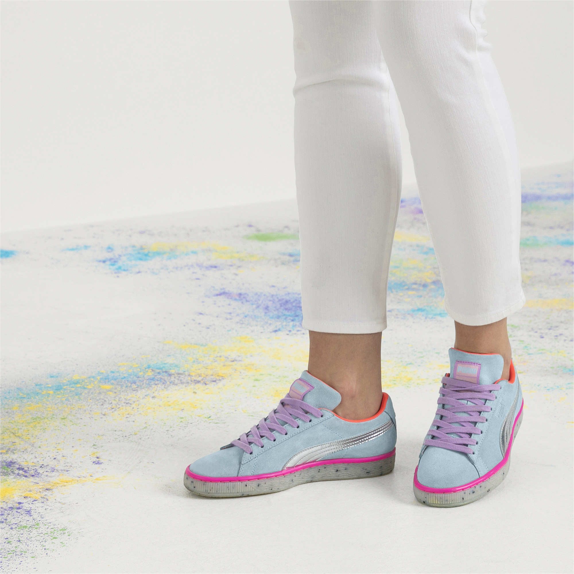 Image Puma PUMA x SOPHIA WEBSTER Women's Suede Candy Princess Sneakers #8