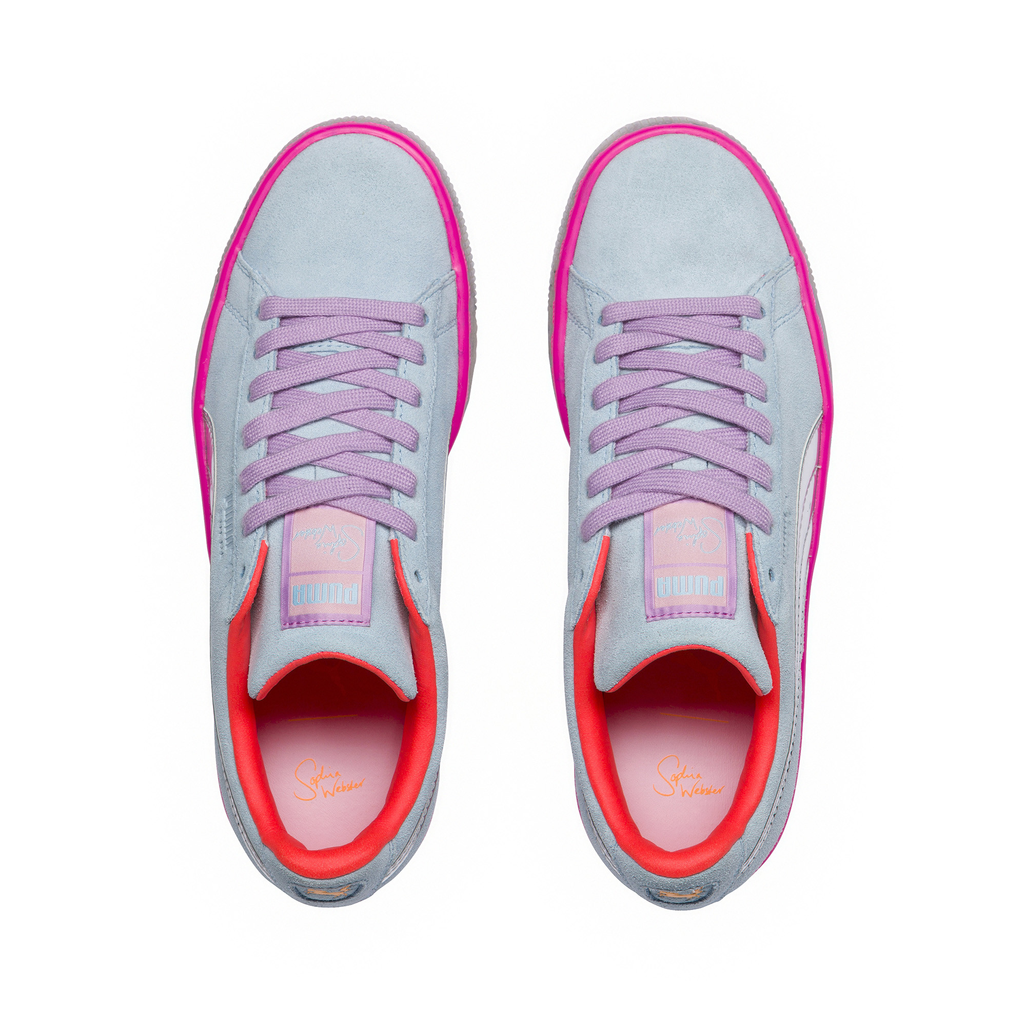 Image Puma PUMA x SOPHIA WEBSTER Women's Suede Candy Princess Sneakers #5