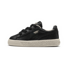 Thumbnail 1 of PUMA x tinycottons Basket Pompom Kids Sneakers, Puma Black-Birch, medium