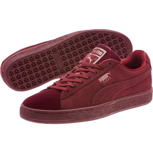 Suede Classic Velvet Women's Sneakers, Cordovan, large