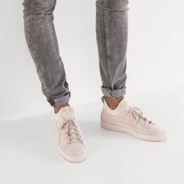 PUMA x BIG SEAN Suede Mid Sneakers, Shell-Shell, large