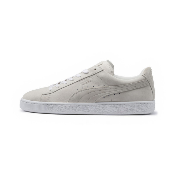 low priced ffc41 fe21e Suede Classic White Sneakers, Puma White-Puma White, large