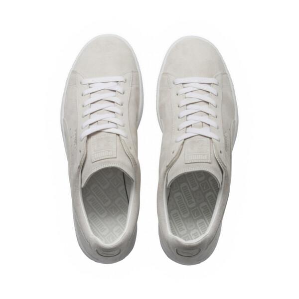 Suede Classic White Sneakers, Puma White-Puma White, large