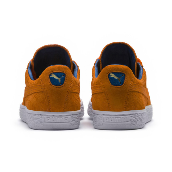 Suede Classic NYC Trainers, Vibrant Orange, large