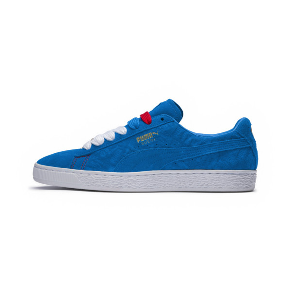 Suede Classic PARIS sportschoenen, Electric Blue Lemonade, large