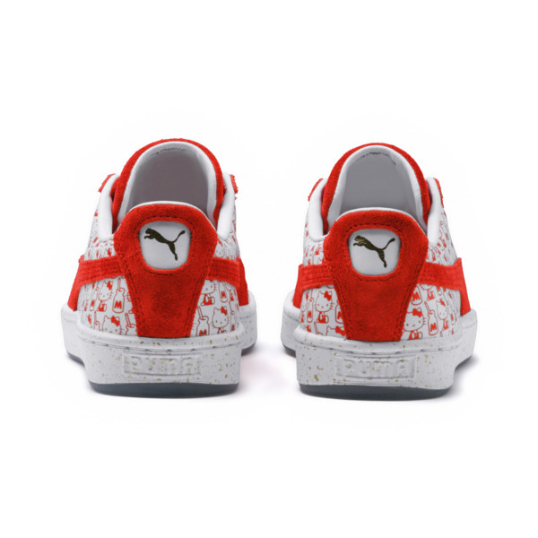 PUMA x HELLO KITTY Women's Suede, Bright Red-Bright Red, large
