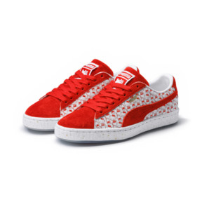 Thumbnail 2 of PUMA x HELLO KITTY Women's Suede, Bright Red-Bright Red, medium