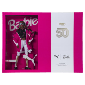 Thumbnail 7 of PUMA x BARBIE Suede Classic Trainers (With Doll), Raspberry Pink-white, medium