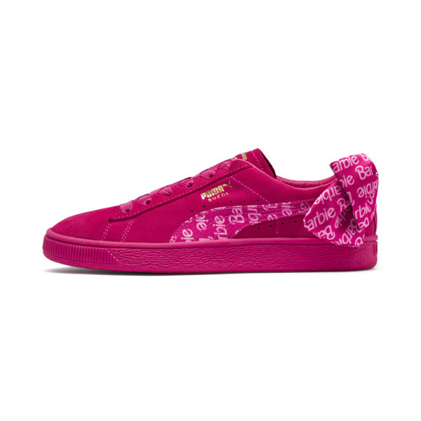 PUMA x BARBIE Suede Classic Trainers (With Doll), Raspberry Pink-white, large
