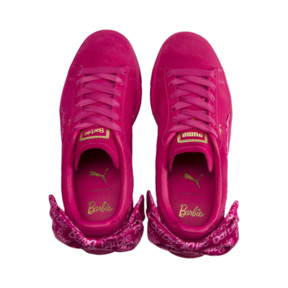 Thumbnail 9 of PUMA x BARBIE Suede Classic Trainers (With Doll), Raspberry Pink-white, medium