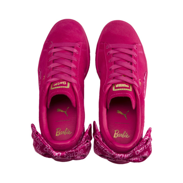 PUMA x BARBIE Suede Classic sneakers (met pop), Raspberry Pink-wit, large