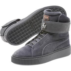 Thumbnail 2 of Platform Mid Velour Women's Sneakers, QUIET SHADE, medium