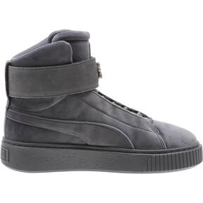 Thumbnail 3 of Platform Mid Velour Women's Sneakers, QUIET SHADE, medium