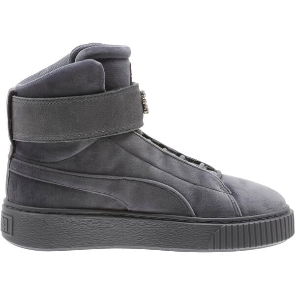 Platform Mid Velour Women's Sneakers, QUIET SHADE, large