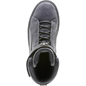 Thumbnail 5 of Platform Mid Velour Women's Sneakers, 01, medium