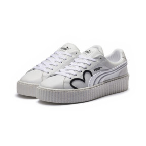 Thumbnail 2 of FENTY Clara Lionel Men's Creeper, Puma White-Puma Black-PGold, medium