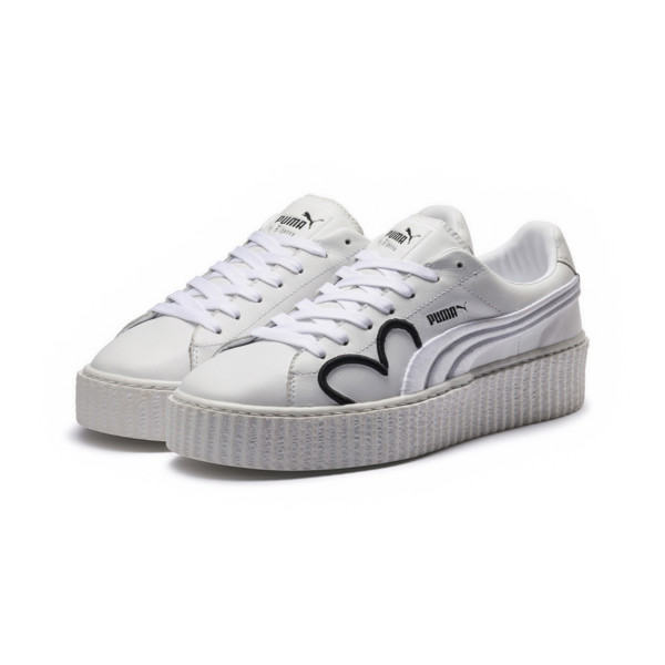 FENTY Clara Lionel Men's Creeper, Puma White-Puma Black-PGold, large