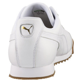 Thumbnail 3 of Roma Classic Gum Trainers, Puma White-Puma Team Gold, medium