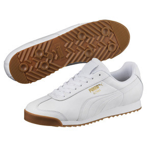 Thumbnail 2 of Roma Classic Gum Trainers, Puma White-Puma Team Gold, medium