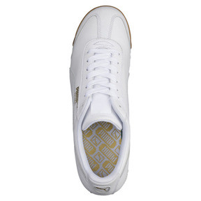 Thumbnail 5 of Roma Classic Gum Trainers, Puma White-Puma Team Gold, medium