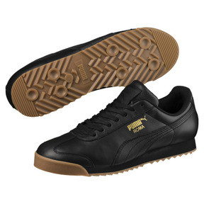 Thumbnail 2 of Roma Classic Gum Trainers, Puma Black-Puma Team Gold, medium