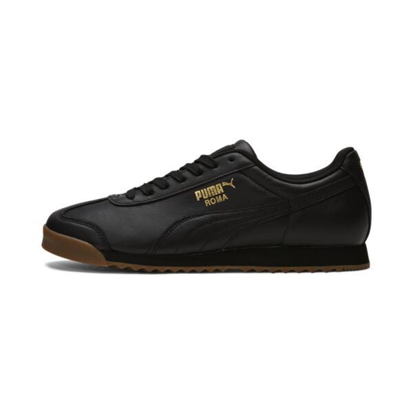 5b58fb2fe Roma Classic Gum Sneakers | Puma Black-Puma Team Gold | PUMA Lows | PUMA