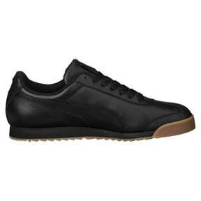Thumbnail 4 of Roma Classic Gum Trainers, Puma Black-Puma Team Gold, medium