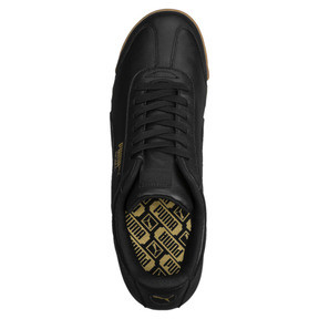 Thumbnail 5 of Roma Classic Gum Trainers, Puma Black-Puma Team Gold, medium