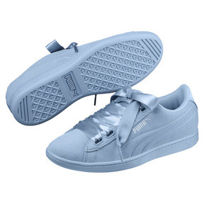Thumbnail 2 of Vikky Ribbon Satin Women's Sneakers, CERULEAN-CERULEAN, medium