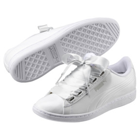 Thumbnail 2 of Vikky Ribbon Patent Women's Sneakers, Puma White-Puma White, medium