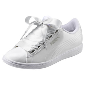 Thumbnail 1 of Vikky Ribbon Patent Women's Sneakers, Puma White-Puma White, medium