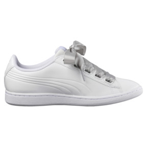 Thumbnail 3 of Vikky Ribbon Patent Women's Sneakers, Puma White-Puma White, medium