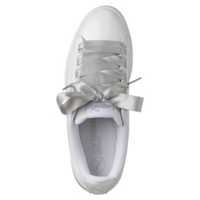 Thumbnail 5 of Vikky Ribbon Patent Women's Sneakers, Puma White-Puma White, medium