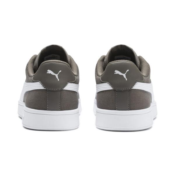 PUMA Smash v2 Canvas Sneakers, Charcoal Gray-Puma White, large