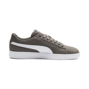 Thumbnail 5 of PUMA Smash v2 Canvas Sneakers, Charcoal Gray-Puma White, medium