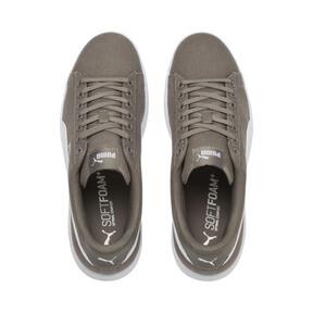 Thumbnail 6 of PUMA Smash v2 Canvas Sneakers, Charcoal Gray-Puma White, medium