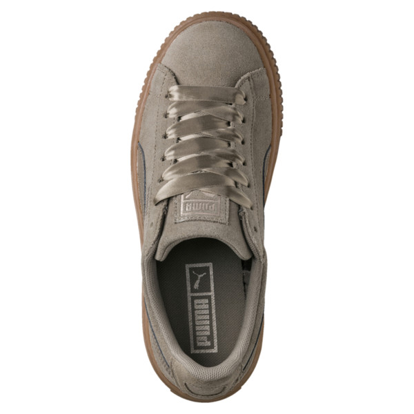Zapatillas de mujer Suede Platform Bubble, Cordón elástico, grande