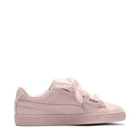 Thumbnail 3 of Suede Heart Bubble Women's Trainers, Pearl-Pearl, medium
