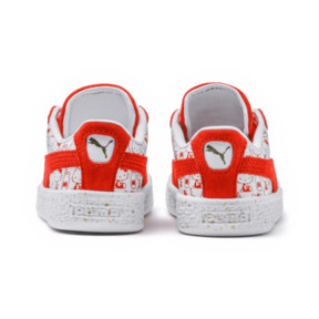 Thumbnail 4 of PUMA x HELLO KITTY Suede Classic Sneakers PS, Bright Red-Bright Red, medium