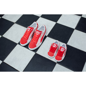 Thumbnail 7 of PUMA x HELLO KITTY Suede Classic Sneakers PS, Bright Red-Bright Red, medium