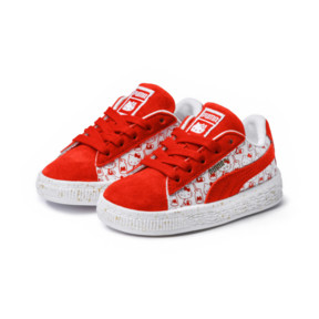 Thumbnail 2 of PUMA x HELLO KITTY Suede Classic Sneakers PS, Bright Red-Bright Red, medium