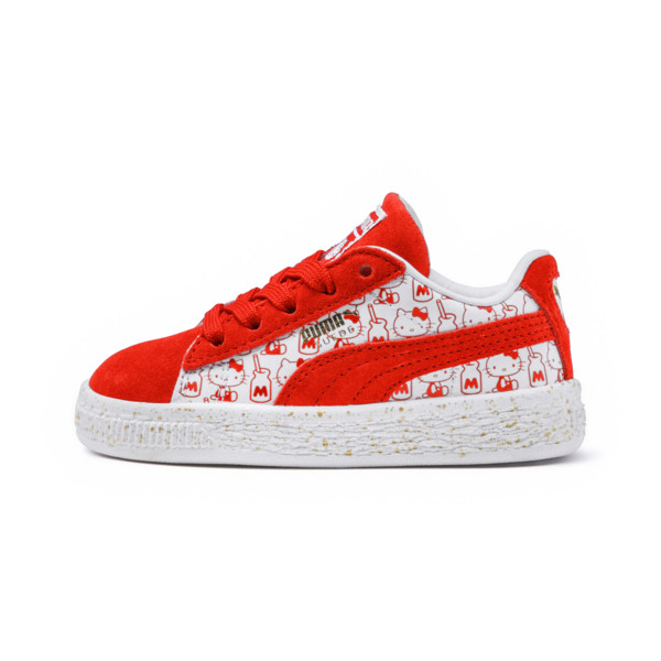 PUMA x HELLO KITTY Suede Classic Sneakers PS, Bright Red-Bright Red, large