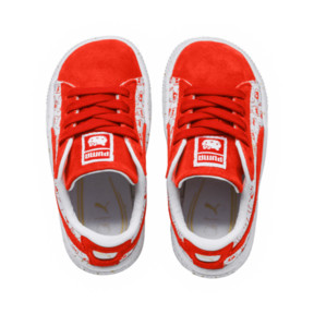 Thumbnail 5 of PUMA x HELLO KITTY Suede Classic Sneakers PS, Bright Red-Bright Red, medium