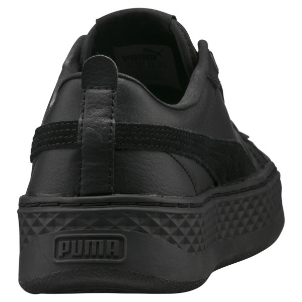 Puma Smash Platform Women's Shoes, Puma Black-Puma Black, large
